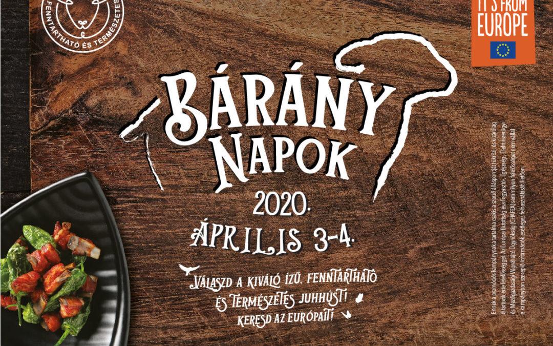 Bárány Napok 2020. április 3-4.