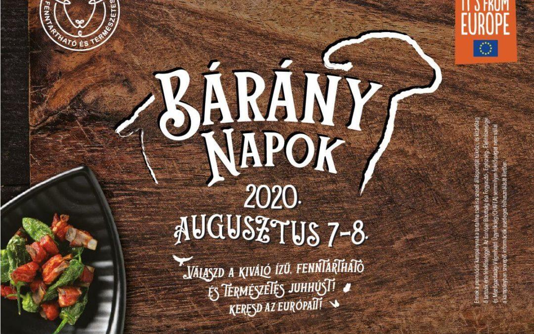 Bárány Napok 2020. augusztus 7-8.
