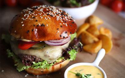 Kézműves bárányburger tárkonyos aiolival